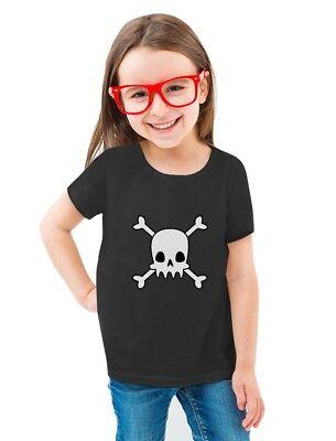 Skulls Cross-bones Cute Halloween Toddler/Kids Girls' Fitted T-Shirt Gift Idea