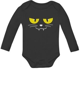 Halloween Cat Face Easy Costume for Baby Girl / Boy Baby Long Sleeve Bodysuit