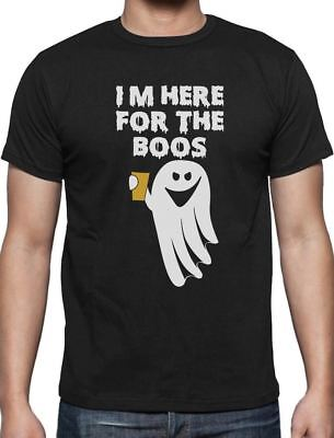 I'm Here For The Booze Funny Boo Ghost Halloween T-Shirt Halloween Party
