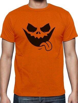 Evil Jack O' Lantern Scary Pumpkin Face Halloween T-Shirt Funny ()