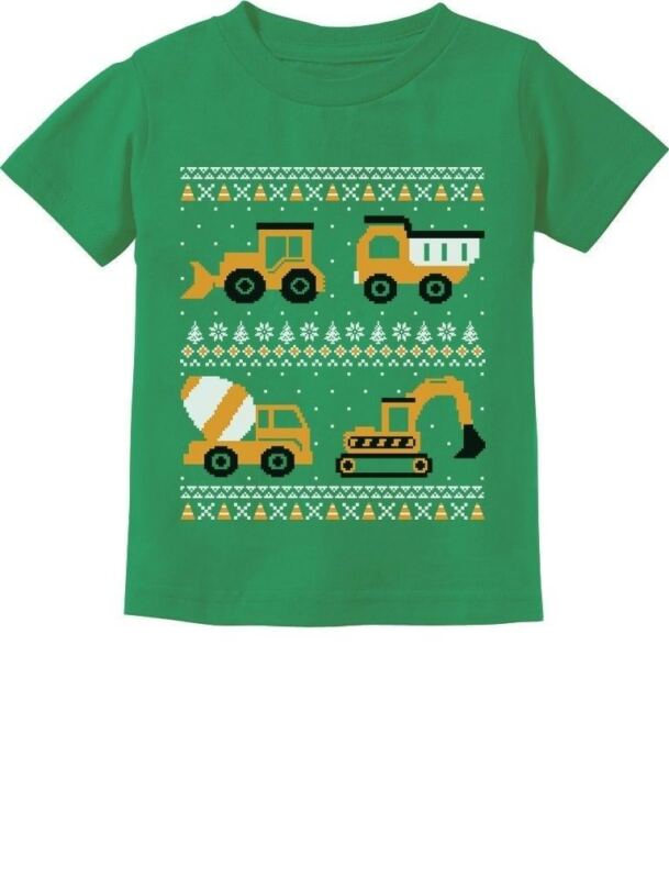 Tractors & Bulldozers Ugly Christmas Sweater Toddler/Infant Kids T-Shirt Gift
