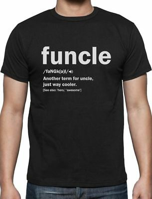 Funny Uncle Funcle Definition Gift For Humor Holiday Christmas T Shirt S   5Xl