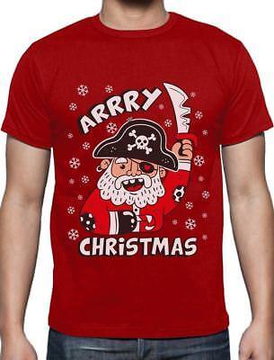 Arrry Christmas Pirate Santa Buccaneer Ugly Xmas Sweater T-Shirt Gift Idea](Ugly Christmas Shirt Ideas)