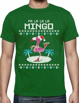 Fa La La Flamingo Ugly Christmas Sweater Funny Xmas T-Shirt Gift Idea - Ugly Christmas Sweaters Ideas