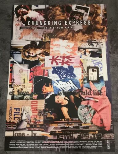Wong Kar Wai CHUNGKING EXPRESS Orig 4K Release INTL Double-Sided Movie Poster