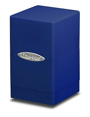 1 Ultra Pro Satin Tower Deck Protector Box - Blue - MTG Gami