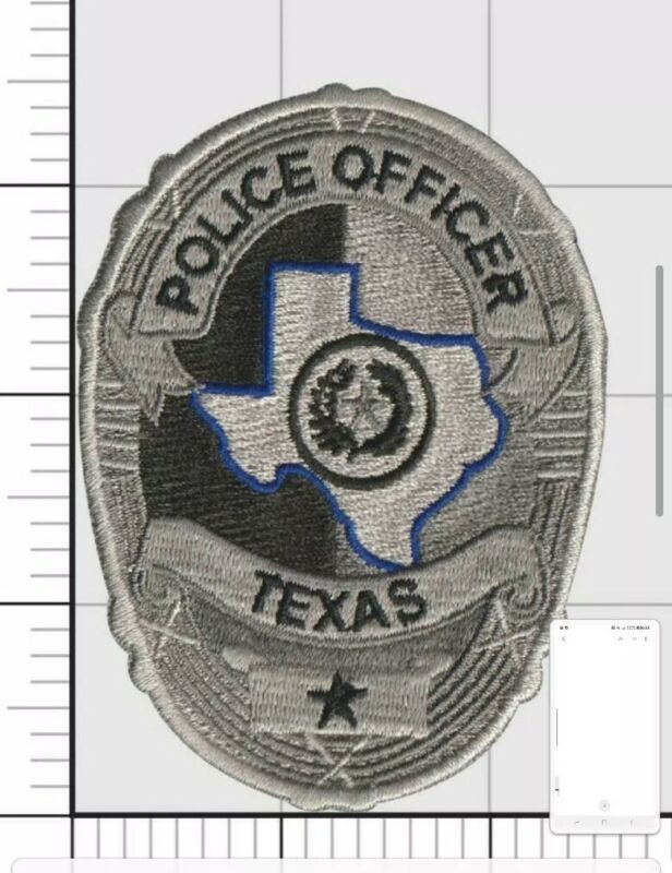 Texas Police Patches thin blue line