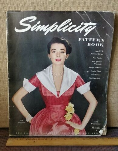 Vintage -- 1950 Simplicity Pattern Book Needlework Catalog