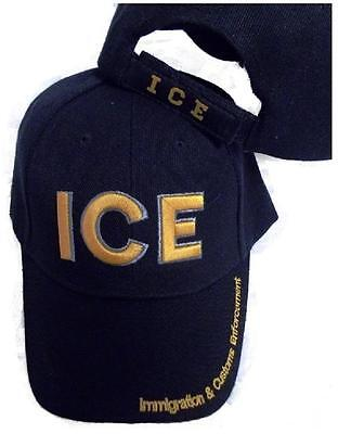 ICE IMMIGRATION & CUSTOMS ENFORCEMENT EMBROIDERED HAT black gold baseball cap us