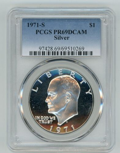 1971 S SILVER EISENHOWER DOLLAR $1 PCGS PR69DCAM 69510269