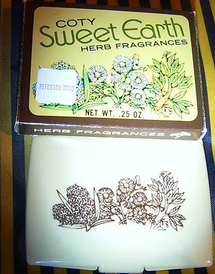 Vintage COTY Sweet Earth HERB Fragrances Solid Perfume COMPACT in Box