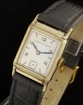 VINTAGE GIRARD PERREGAUX MENS MANUAL WIND WRIST WATCH – N MINT DIAL
