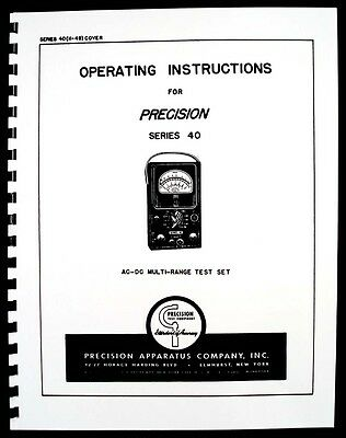 Precision Apparatus Series 40 Ac-dc Multi-range Test Set Manual