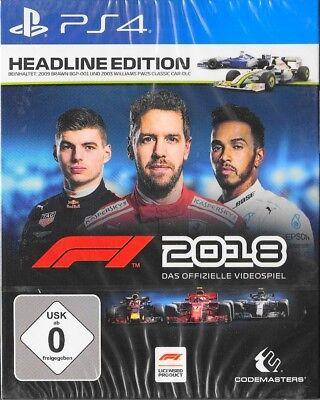 Formel 1 F1 2018 - Headline Edition - Sony PlayStation 4 / PS4 Neu & OVP