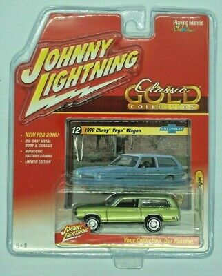 JOHNNY LIGHTNING -- 1972 Chevy Vega Wagon -- Classic Gold -