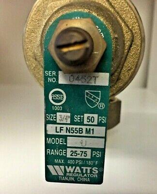 New Out Of Box - Watts 34 N55b M1 Model U Water Pressure Reducing Valve