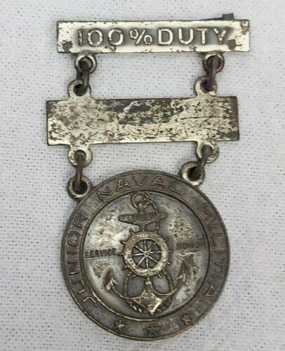 1935 JUNIOR NAVAL MILITIA 100% DUTY Badge Pin Robbins Co Attleboro