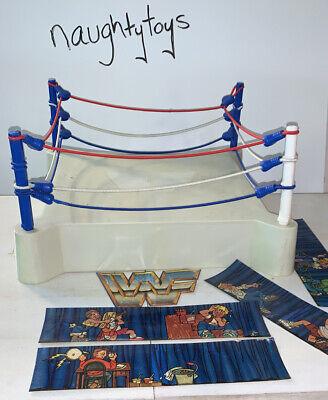 WWF LJN Sling Em Fling Em Wrestling Figure Superstars Ring Vtg 80s Near Complete
