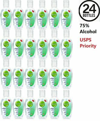 24 PACK Hand Sanitizer Gel 75% Alcohol Portable Hand Wash Scent Free 50ml