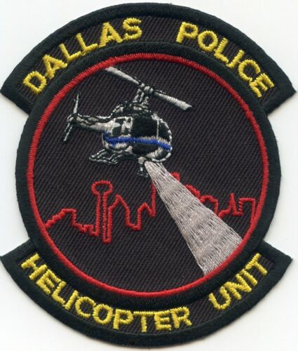 DALLAS TEXAS TX HELICOPTER aviation POLICE PATCH