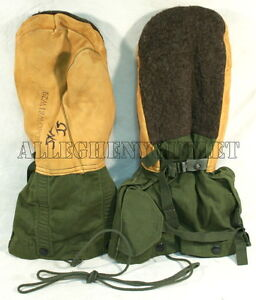 Military-OD-Green-N-4B-ARCTIC-EXTREME-COLD-WEATHER-MITTENS-LINER-SET-Small-VG