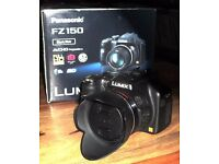 PANASONIC LUMIX FZ150 BRIDGE CAMERA...vgc
