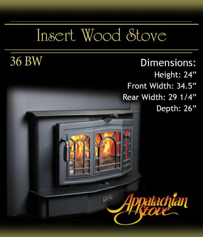 Appalachian 36 BW  INSERT Wood Stove Fireplace NEW