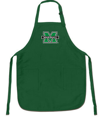 BEST Marshall University Apron for Grilling Barbecue Kitchen BBQ w/ (Best Green For Kitchen)