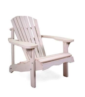osoltus Canadian Deck Chair Adirondack Stuhl Jumbo Pinienholz weiß ()