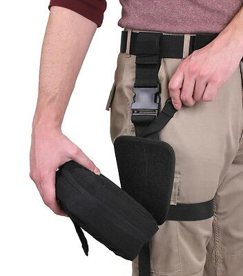 Black Nylon Emt Ems Paramedic Drop Leg Medic First Aid Kit Pouch Molle Holster