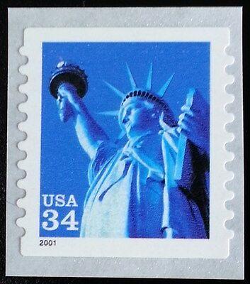 2001 34C STATUE OF LIBERTY, COIL, SA SCOTT 3466 MINT F/VF NH