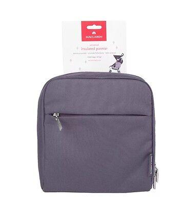 Maclaren Universal Insulated Pushchair Pannier Carry Bag - Grey