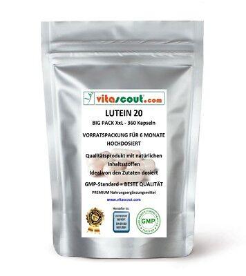 10 Mg 20 Tabletten (Lutein 20 - 360 Kapseln á 10mg - für 6 Monate - Keine Tabletten)