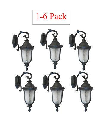 Multi-Pack Outdoor Cast Aluminum Lighting Fixture Lantern Wall Sconce Black WD  Cast Aluminum Outdoor Lighting