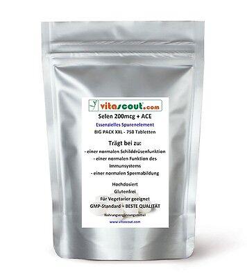 Selen / Selenium 200 mcg & ACE - 750 Tabletten - PN: 071211