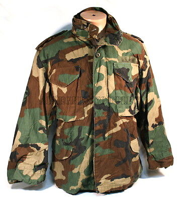 USGI Military Army Woodland Camo M-65 M65 Field Coat Jacket Small / X-Short NICE