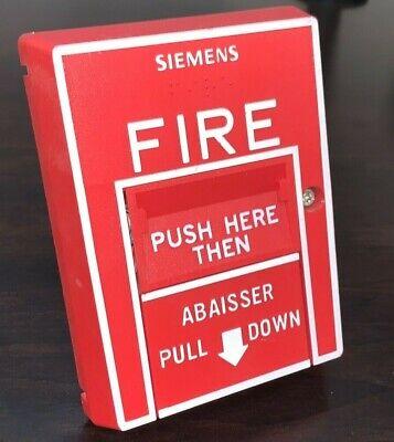 Cerberus Pyrotronics Msi-20b Fire Alarm Pull Station Siemens French Abaisser