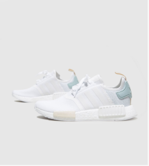 WOMENS ADIDAS NMD R1 WHITE BLUE ULTRA BOOST SIZE UK6/ US 7.5