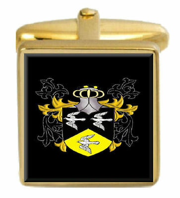 Dove England Family Crest Coat Of Arms Heraldry Cufflinks Box Set Engraved