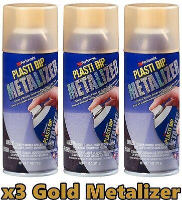 Performix 11211 Plasti Dip Enhancer Gold Metalizer 3 Pack Aerosol Spray Can 11oz