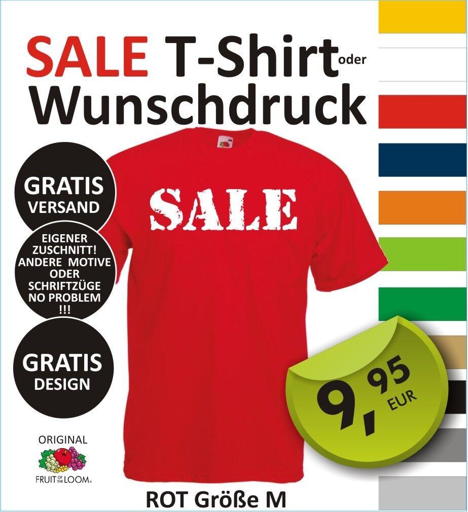 T-Shirt mit Wunschdruck, eigenem Logo, Wunschtext, selbst gestalten