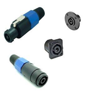 Profi-PA-LS-Stecker-SpeakON-Stecker-PowerCon-4-Pol-Jack-Audio-Speaker-PA-Leitung