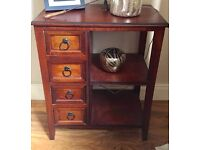 SOLID WOOD SIDEBOARD WITH 4 DRAWERS