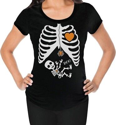 Halloween - Pregnant Skeleton Xray Costume Maternity Shirt Mom To Be](Maternity Skeleton Halloween Costume)