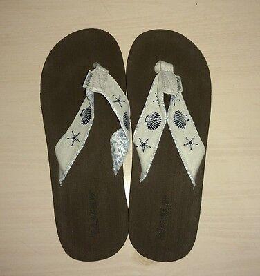 Tidewater Sandals   Linen Shells   Flip Flops  Womens  Sz 10