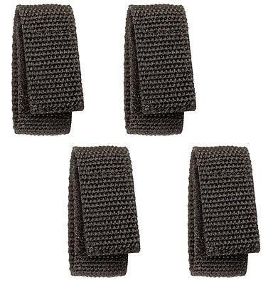 Hwc Black Nylon Hook Loop Duty Belt Keepers Police Security Guard Emt Ems 4-pack
