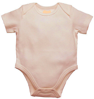 Pack of 2: Organic Cotton - Baby Body Suit (short Sleeve) - no Chemical dye.