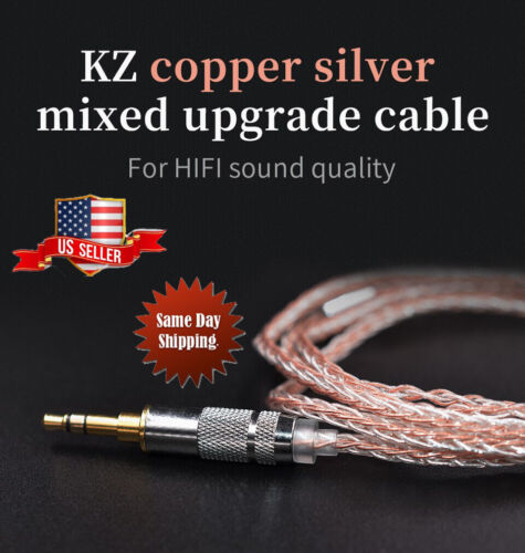 KZ-Earphone upgrade cable 200 Core Copper silver mixed plated Headphone Cable