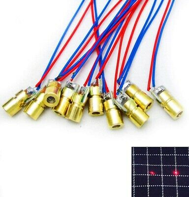 10pcs 650nm 5mw Red Dot Laser Head Red Laser Diode Tube With Leads Head 6mm10mm