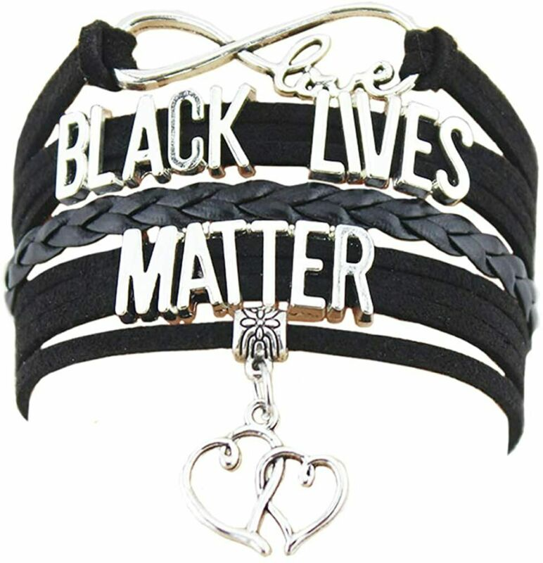LEYSTARE Black Lives Matter Necklace Bracelet Earrings BLM Charms Jewelry Gifts for Women Girls